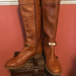 INC leather brown boots
